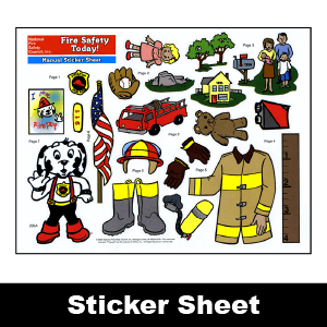 200A: Fire Safety Today! Manual Sticker Sheet